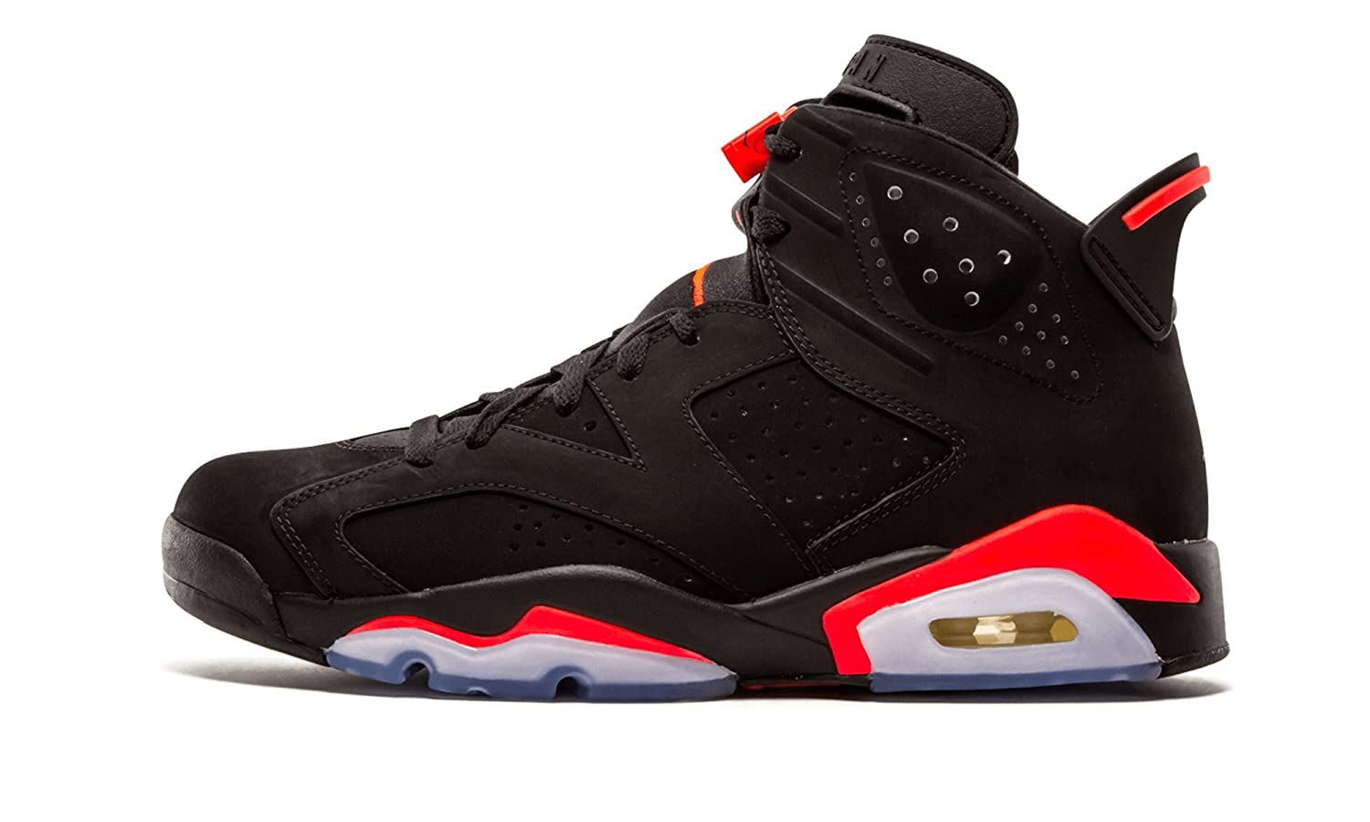 nike air jordan 6 retro shoes - black/infrared