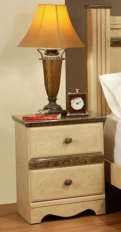 Sandberg Furniture Casa Blanca 2 Drawer Night Stand