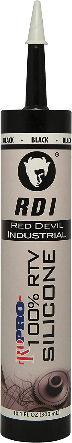 Red Devil 08166I RD PRO Industrial Grade RTV 100% Silicone Sealant, 10.1 oz, Black, 1 Pack