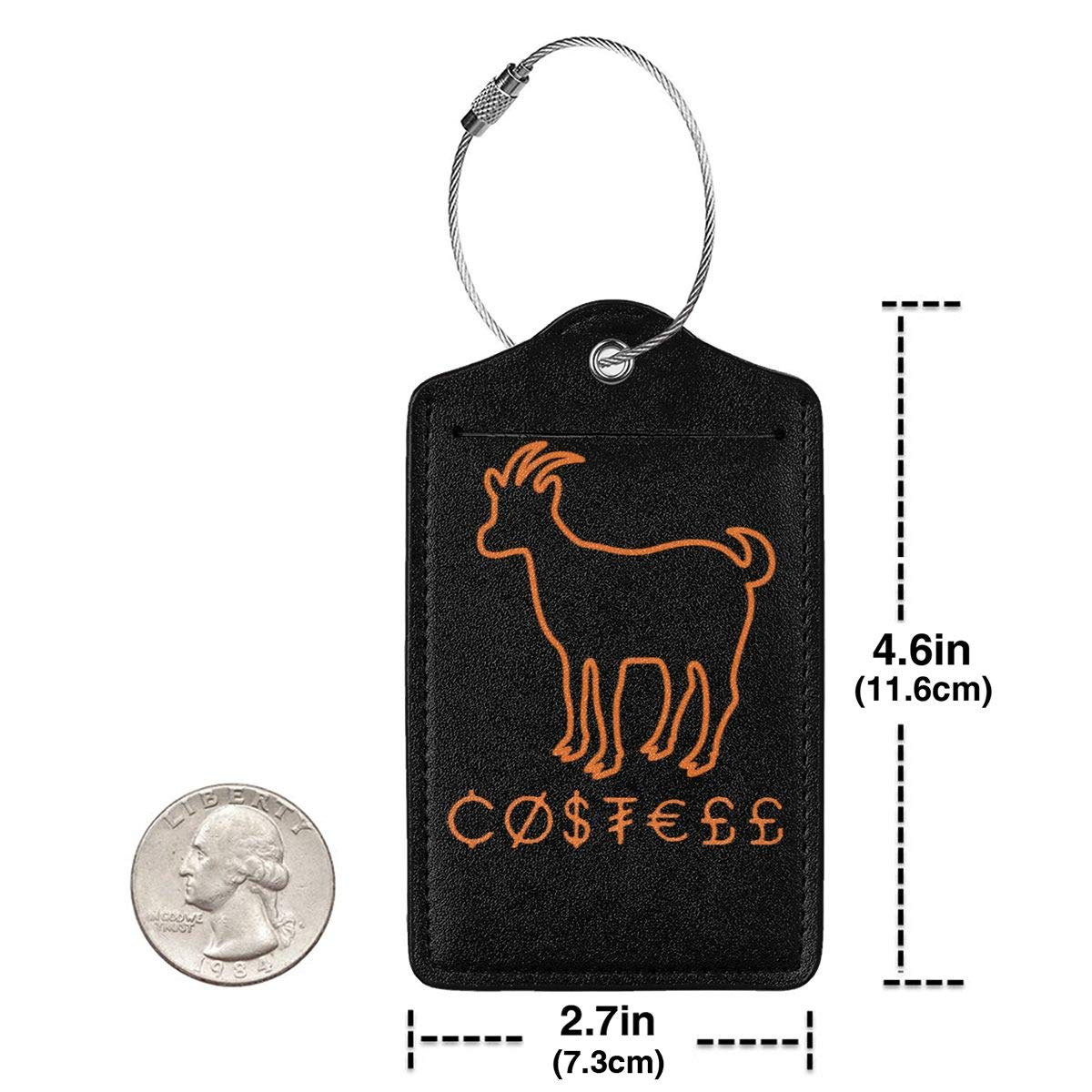 Erika Costell Sheep Leather Luggage Tag Travel ID Label For Baggage Suitcase