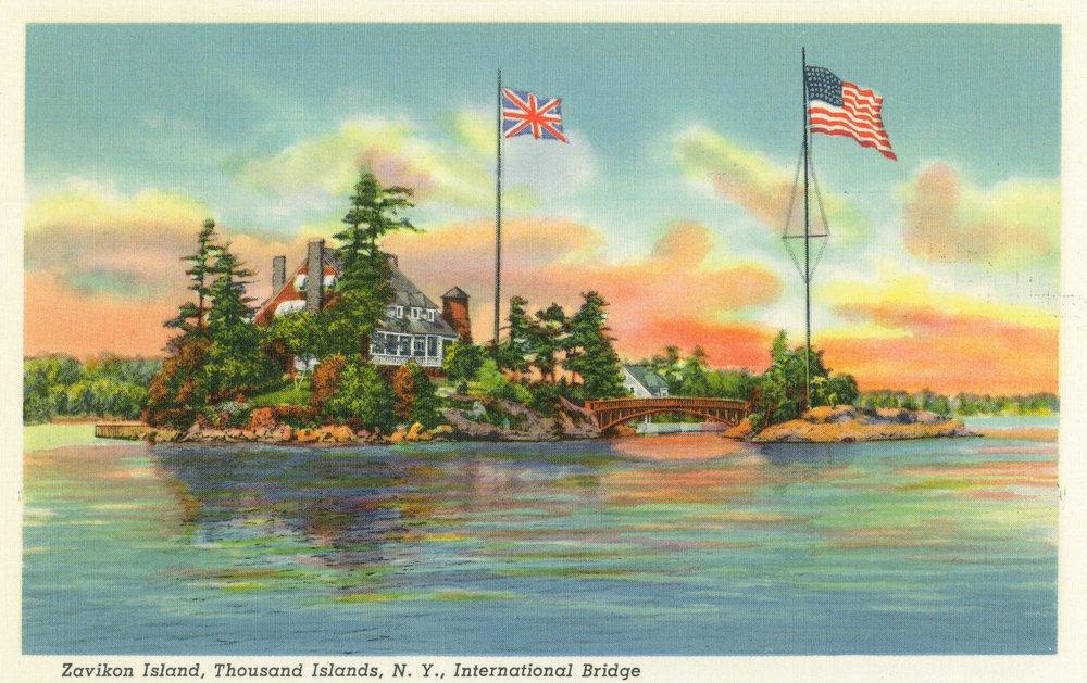 Thousand諸島、ニューヨーク – ビューのzavikon島 24 x 36 Giclee Print LANT-16795-24x36 B017ZJA6HK  24 x 36 Giclee Print