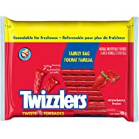 TWIZZLERS Licorice Candy, Strawberry Twists, Family Bag, 680 Gram