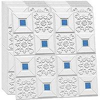 SQINAA 3D-wandpanelen Schil en plakbehang Bakstenen wandpanelen voor woonkamer Slaapkamer Achtergrond wanddecoratie 10…