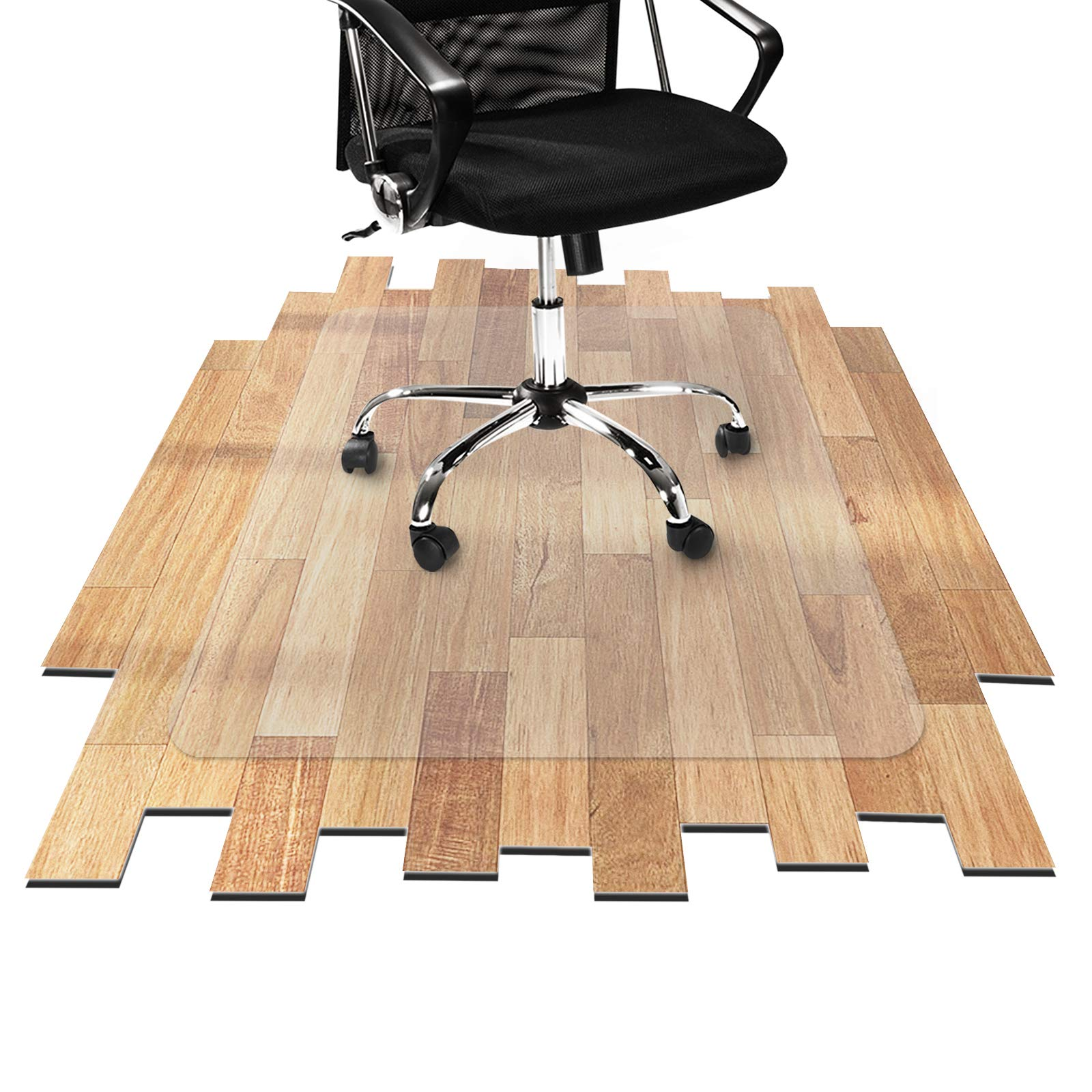 Desk Chair Mat for Hardwood Floor - Hard Floor Protection Mat for Office & Home | Many Sizes Available | Clear - 48'' x 80'' by OfficeMarshal