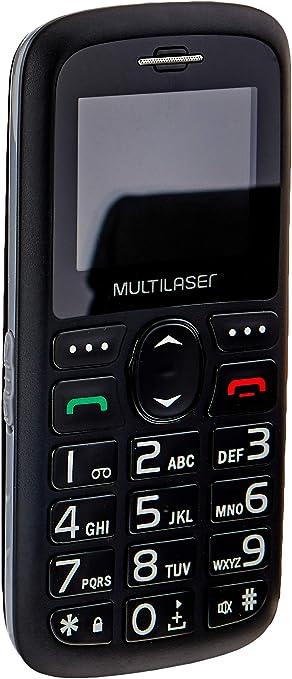 Celular Vita 3G Dual Chip USB e Bluetooth Tela 1, 8 Pol. + Base Carregadora Preto Multilaser - P9091