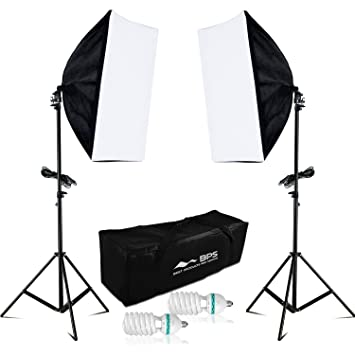 Nieuw BPS Fotostudio Softbox Studioset 1250W Dauerlicht Profi: Amazon.de AD-13