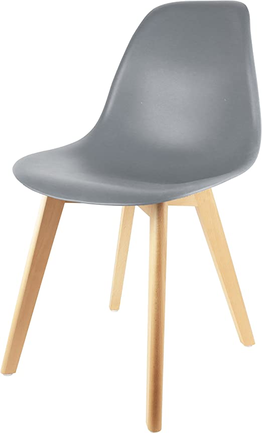 Chaise THE HOME FACTORY cm 2x52x86 DECO Coque PPBoisGrise46 HD3076 SCANDINAVE 5 iOXZPku