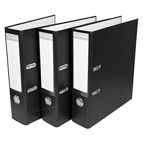 [3 unidades] A4 papel de oficina archivadores de palanca 80 mm de almacenamiento grande