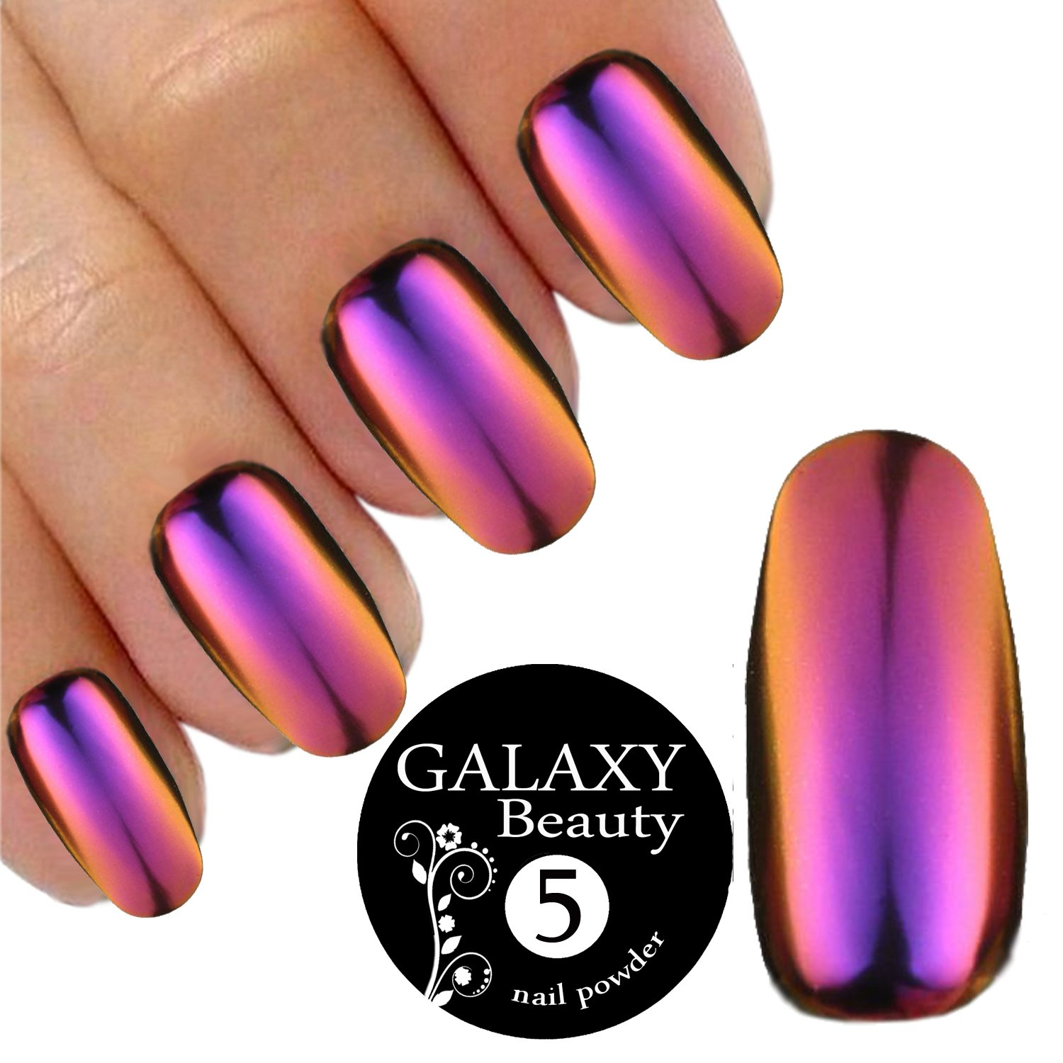 Chameleon Mirror Chrome Nail Shifting Powder Multi Colour Changing Glitter Purple Gold Effect 1 G ATA