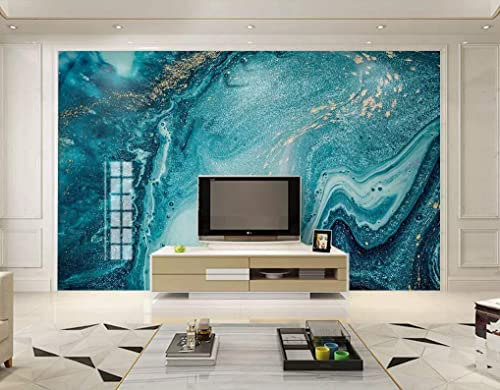 Amazon Com Natural Turquoise Green Marble Stone Wallpaper Light