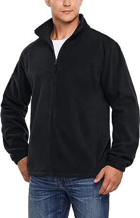 TSLA Men's Full Zip Thermal Active Polar Fleece Long Sleeve Jacket/Vest Top