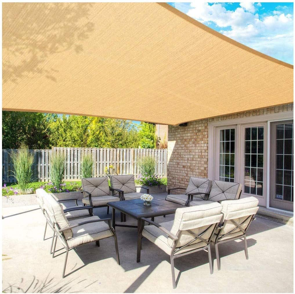 Toldo Vela Sun Shade Sail Rectangle 2x3m Velas de Sombra Prueba de ...