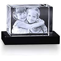 Crystal Impressions - Customized Crystal Photo Picture 3D Laser Engraved in Crystal & Holographic Crystal Personalized…