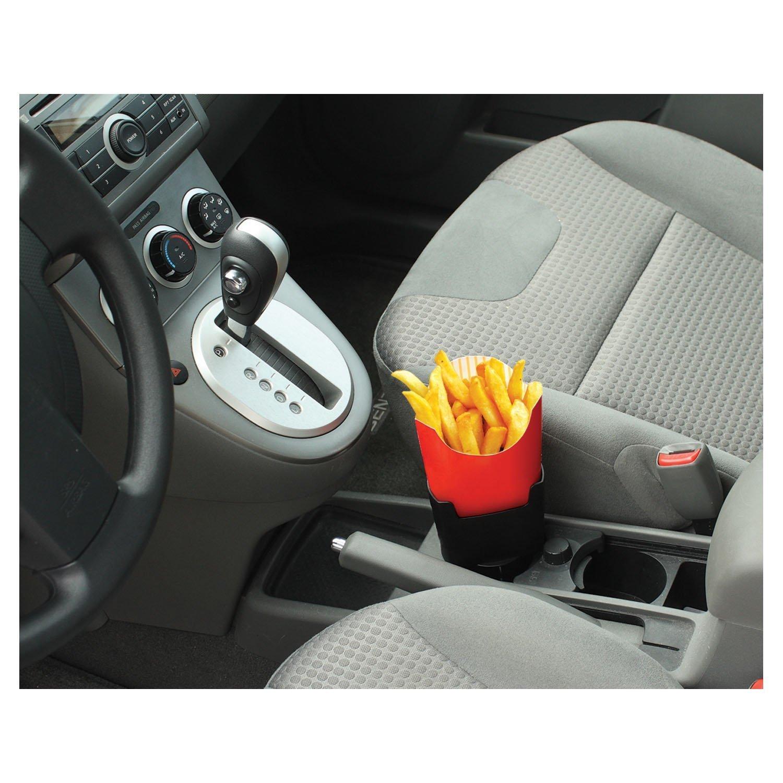Timorn Car French Fry Holder Drink Can pour Auto Plastic Stand Organizer pour t/él/éphone portable Noir cl/és et autres gadgets