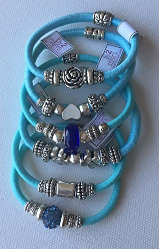 pack pulseras-coleteros azul claro: Amazon.es: Handmade