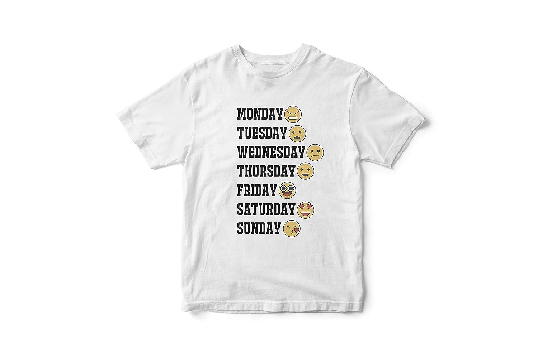 a3c8cdac9 Amazon.com: Emoji quotes T-Shirt, emoji t-shirt, Emoji week Tee Shirt,  Printed Emoji Shirt, White Emoji TShirt, Birthday Shirt, Emoji Custom Shirt,  ...
