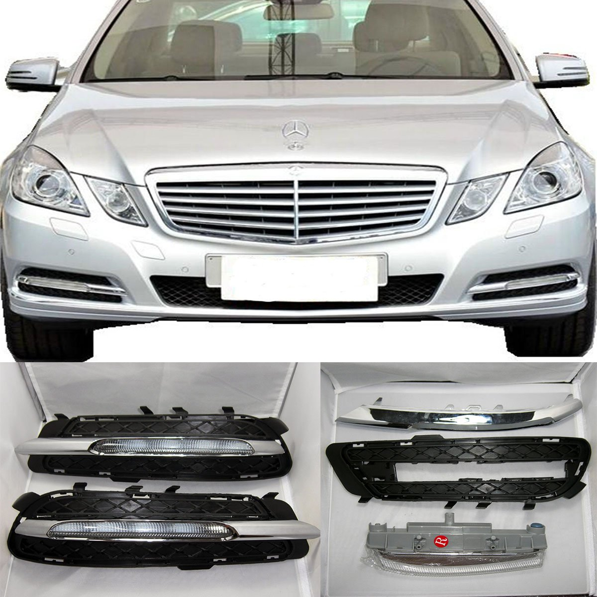 CNAutoLicht 2X LED Daytime Running Lights DRL Fog Lamp For Mercedes Benz W212 E200 E220 E250 E300 E350 E400 E500 2009-2013
