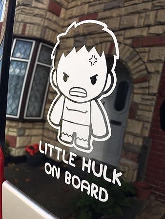 Myrockshirt Aufkleber Little Hulk On Board Junge 17 Cm Autoaufkleber Auto Sticker Lack Heckscheibe Baby Bord Aus Hochle Auto