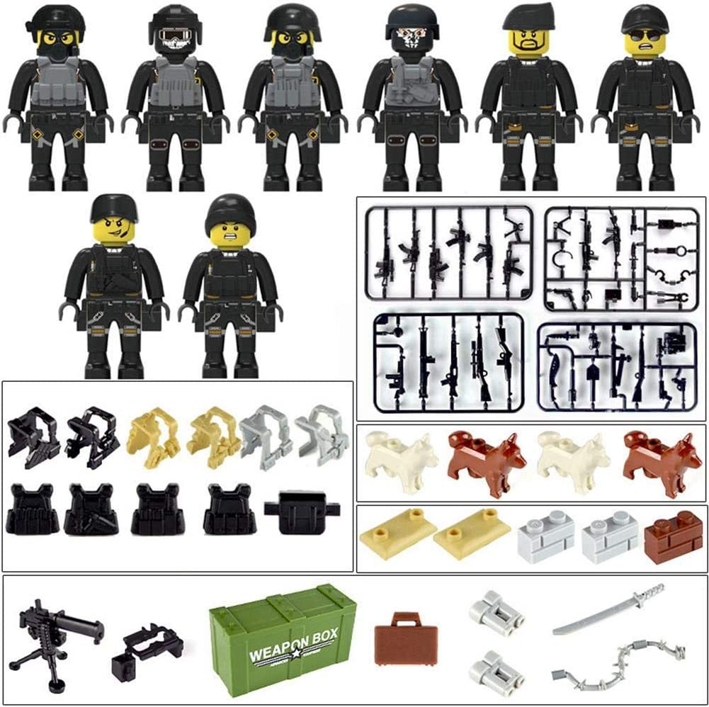 Police City Dolls Armed Building Blocks With A Variety Of Shapes And Scenes Toys