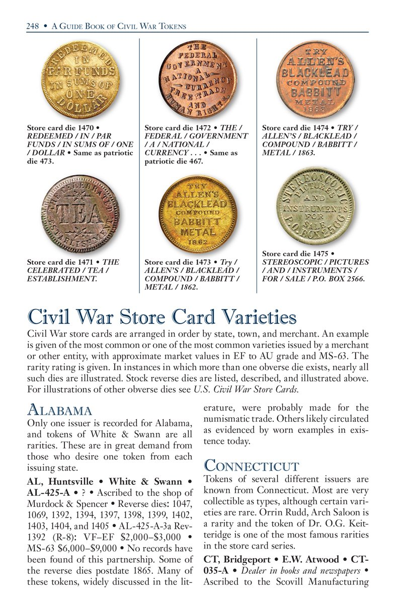 A Guide Book of Civil War Tokens: Patriotic Tokens and Store Cards, 1861-1865 (Official Red Books)