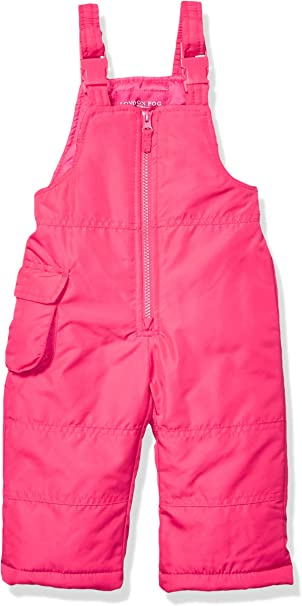 LONDON FOG Girls Toddler Classic Snow Bib Ski Snowsuit