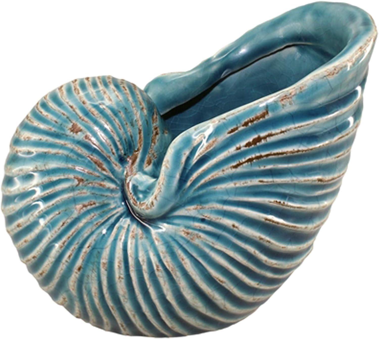 Nautilus Sea Shell Art Ceramic Sculpture