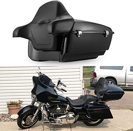 Vivid Black Harley Tour pak pack Touring models Road King Electra glide trunk