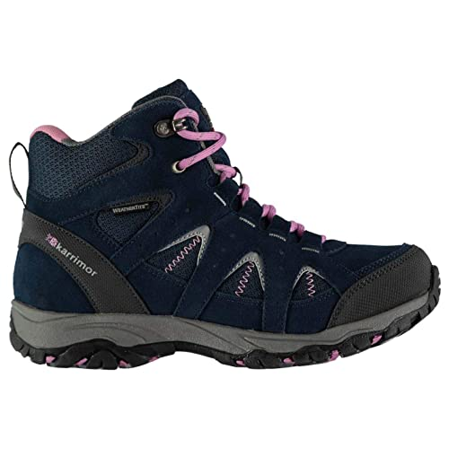 good quality sneakers for cheap well known Karrimor Mount Mid Waterproof Walking Boots Juniors Girls Navy ...