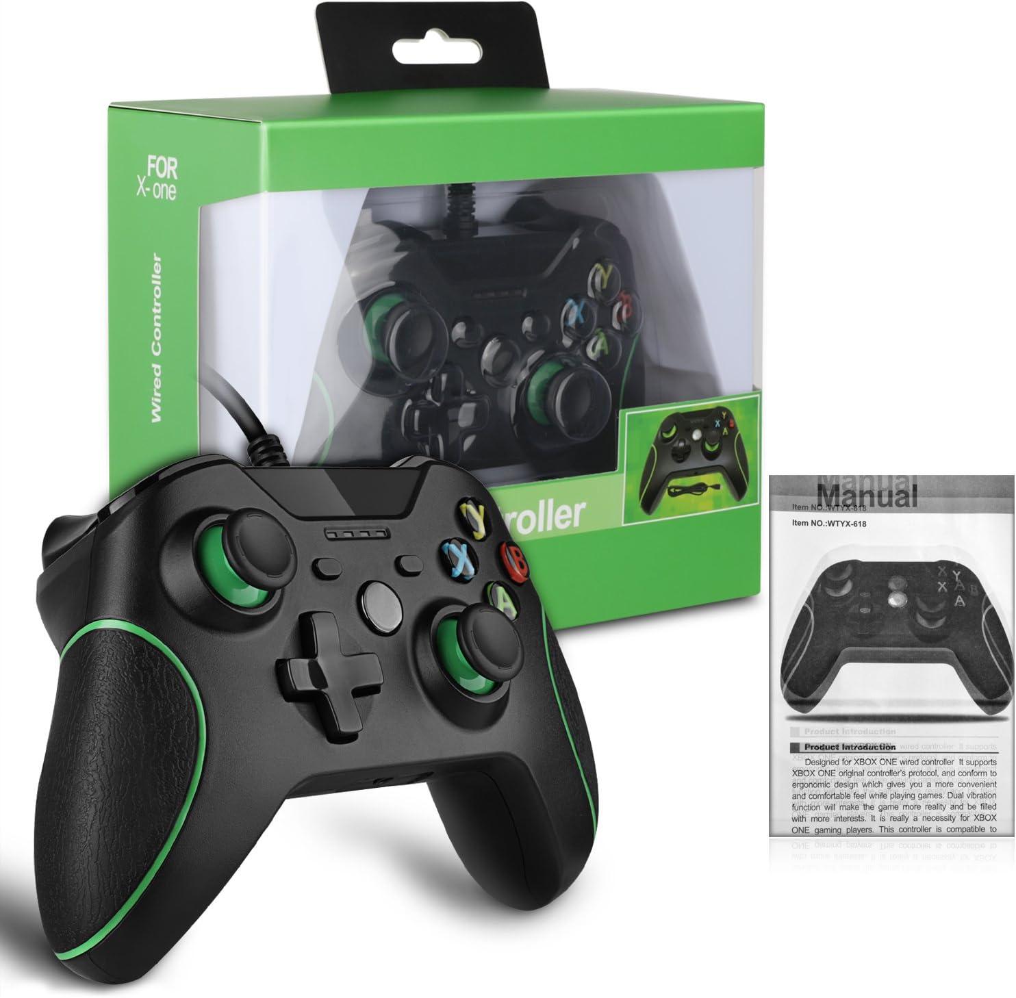 YockTec Xbox One Mando/Controller PC Wired Controller/Controlador de juegos USB Wired Joysticks Gamepad para Xbox One / Xbox One X-Negro: Amazon.es: Videojuegos
