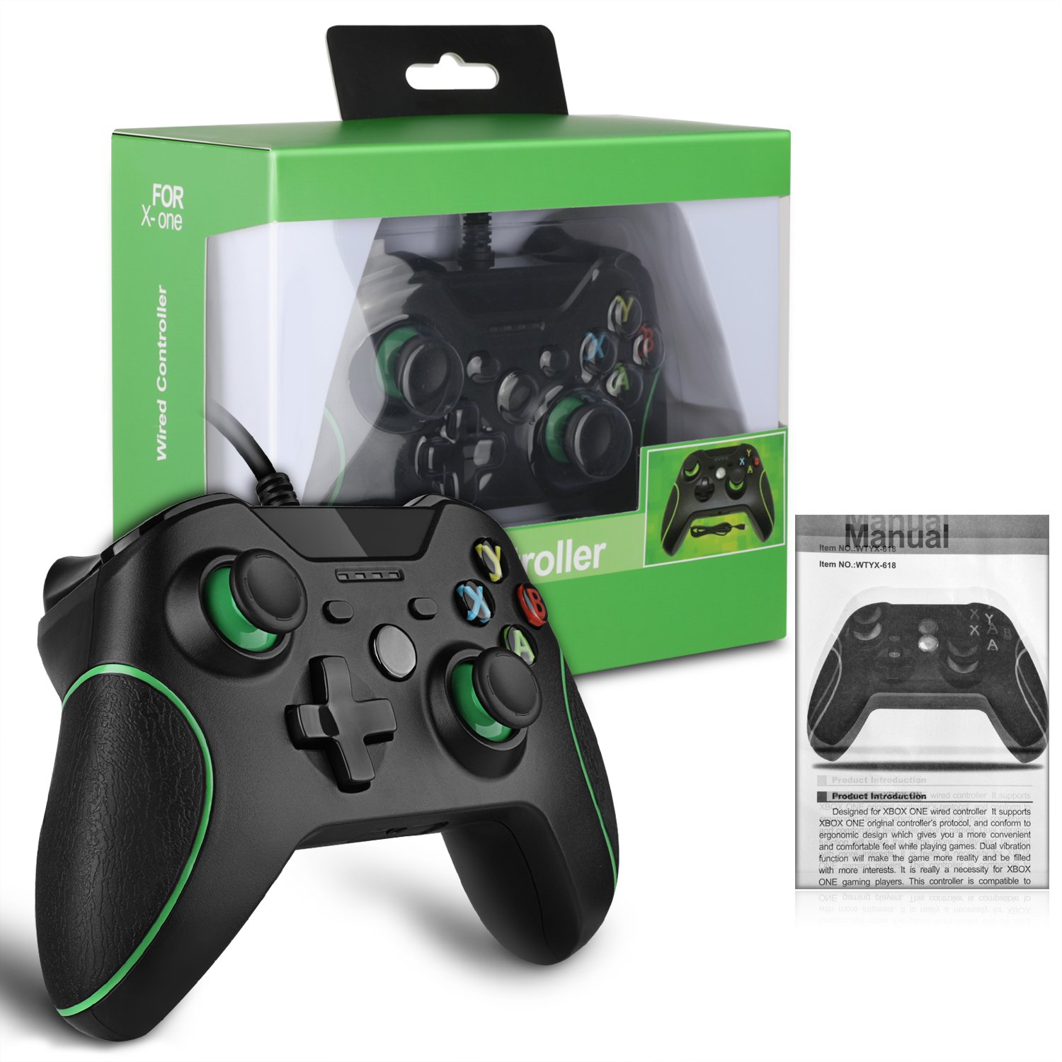 Amazon.com: IVSO Xbox One/ Xbox One X Wired Controller USB PC Gaming ...