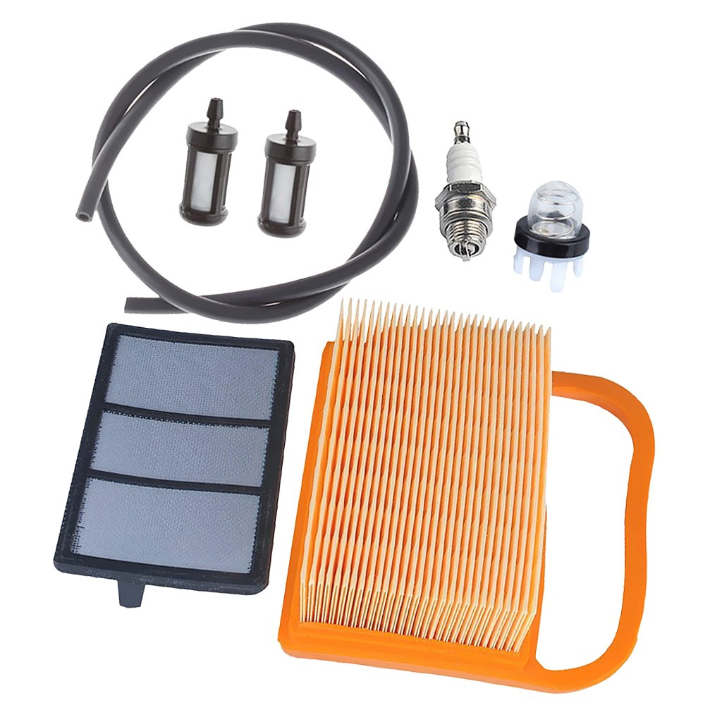Sharplace Filtre à Air Primer Ampoule Carburant Bougie d'allumage Tronçonneuse pour STIHL TS410 TS410Z TS420 TS420Z