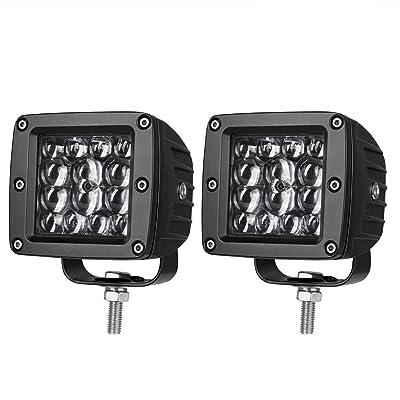 LED Pods 3 inch, AKD Part 84W LED Cubes Spot Lights Philips LED Work Lights Driving Lights Light Bar Pods Off Road Lights for Truck Motorcycle Boat: Automotive