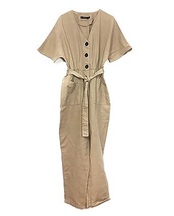 d87947a1f75 Zara Women Jumpsuit with Buttons 7936 823 (X-Small)  Amazon.com.au ...