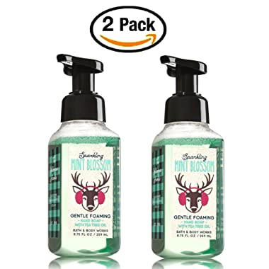 Bath and Body Works Sparkling Mint Blossom Hand Soap - Pack of 2 Gentle Foaming Hand Soaps