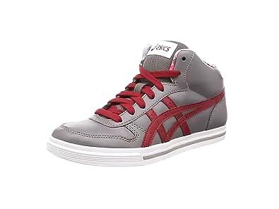 Asics Aaron Mt Gs, Sneakers Basses Mixte adulte - Gris (grey/burgundy 1125), 36 EU