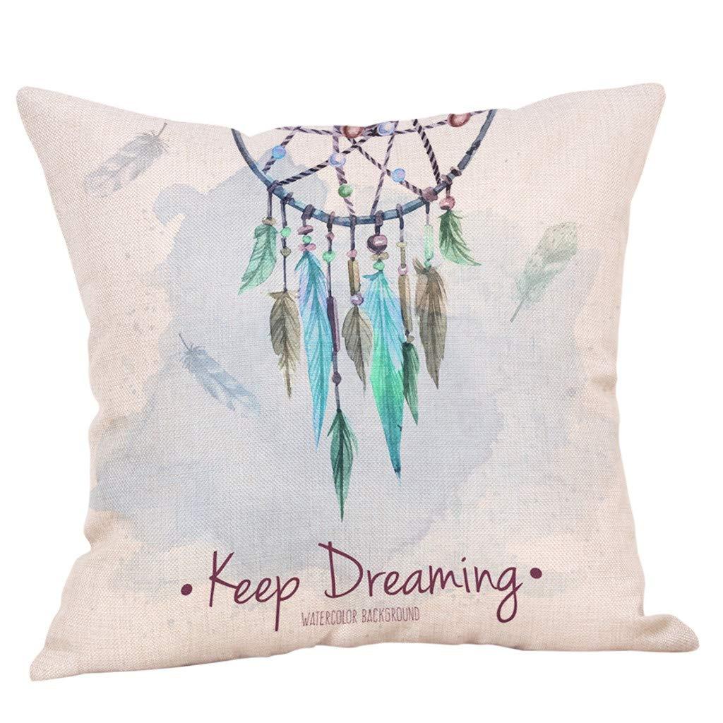 YAYUMI Decorative Upholstery Cushion Cover Cozy Throw ,Pillowcase for Sofa Bed Car Office Home Decor