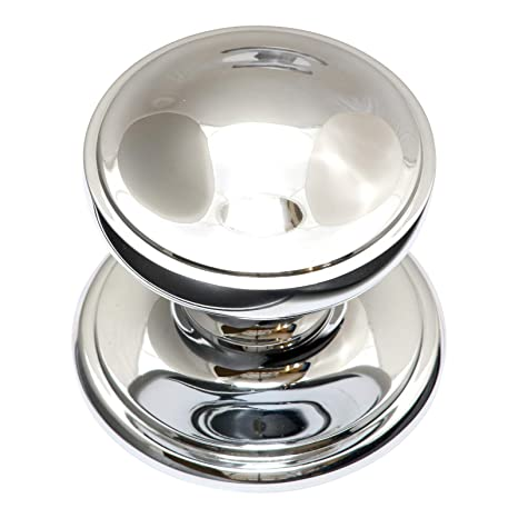 Chrome Door Knobs >> House Of Brass Solid Heavy Cast Polished Chrome Victorian Centre Door Knob Fixed Knob