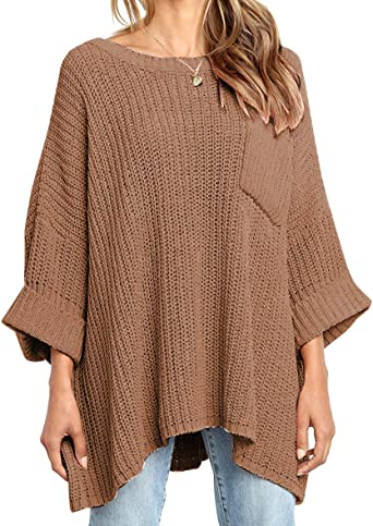 New Womens Oversized Jumper Ladies Knitted Cut Out Sleeve Knit Baggy Sweater Top