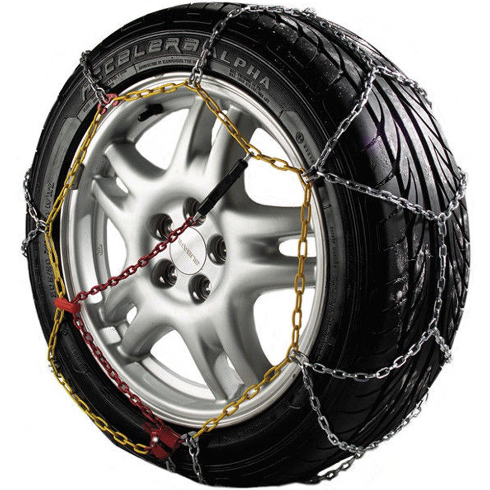 Auto Tecnik Pair of Corrosion Resistant Car Tyre KNS Snow Chains Anti Skid Easy to Fit Winter Grip 20Mn2 Steel, To Fit Car, SUV & Van Tyre Width 145-240mm, Rim Size 13-17 Inch Wheels (Model B) Clifford James