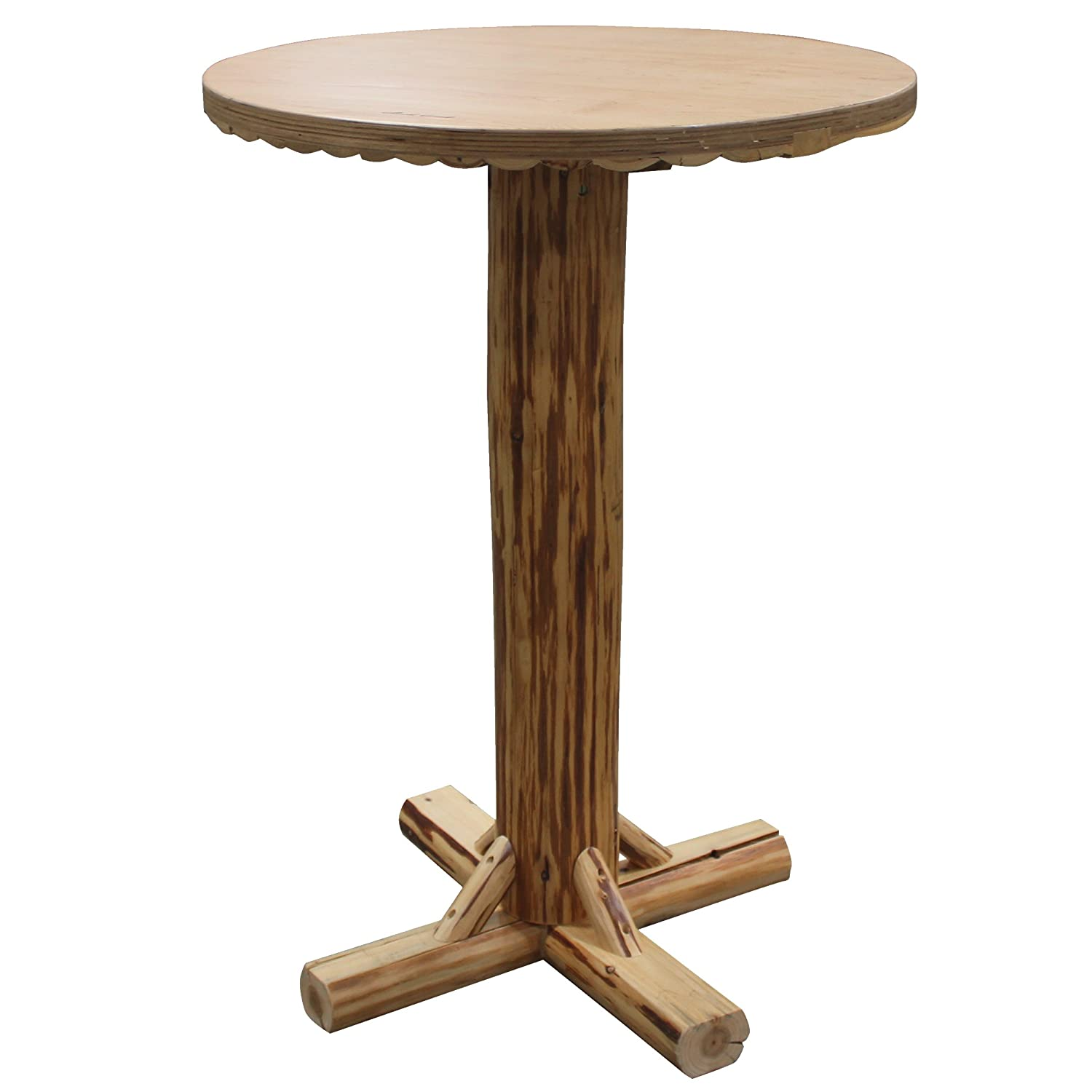 Amazon.com: Rush Creek Creations Rustic Log High Top Bar/Pub Table: Sports  U0026 Outdoors