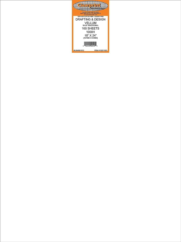 Clearprint 1000H Series 8.5 x 11 Inches Unprinted Vellum, 100-Sheet Pack (CP10201510) Clearprint - Dummy NIS code