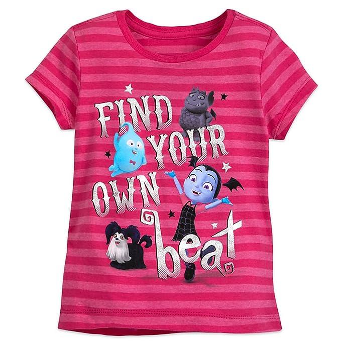 3307a3257 Amazon.com: Disney Vampirina Striped T-Shirt for Girls: Clothing