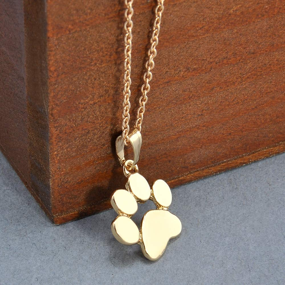 TorontoFinds Custom Dog Paw 18 K Plated Gold and Silver Pendant Necklace