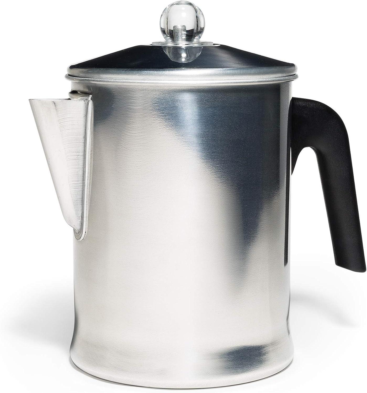 Primula tpa 3609 9 taza cafetera de filtro, aluminio