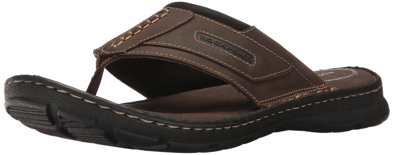 Rockport Hombres de Darwyn Tanga Flip Flop 8 D(M) US Marrón (Brown Ii Leather)