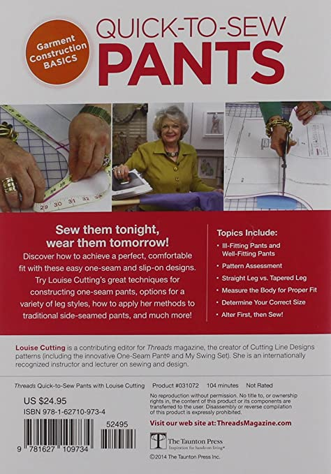 Amazon.com: Quick-to-Sew Pants: Louise Cutting: Movies & TV