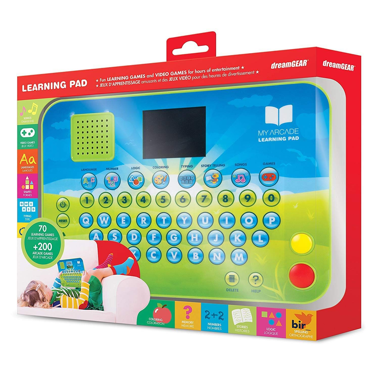 DreamGEAR Learning Pad - Educational Toy Tablet with 270+ Games Including ABC Sound, Math, and Stories by dreamGEAR