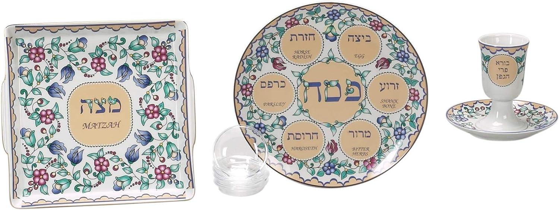 Amazon Com Israel Giftware International Porcelain Seder Set Home Kitchen