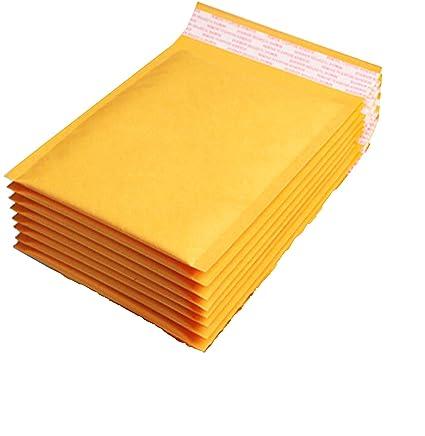 Sobres acolchados - Bolsas de correo doradas y blancas para CD, DVD, A3, A4, ETC, papel de burbujas, 150 x 215 mm, color dorado 150x215mm