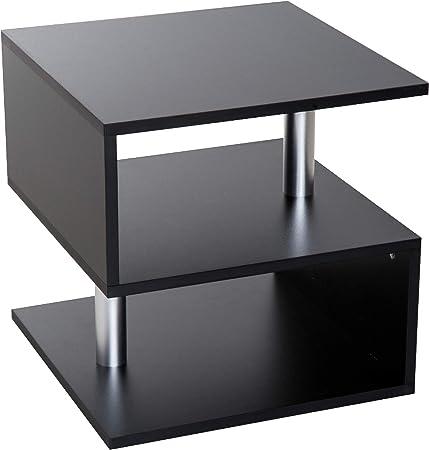 homcom Tavolino da caff/è da Salotto Moderno in Legno Truciolato con Vano Portaoggetti /Φ60 x 39.5cm